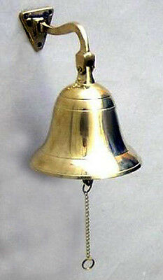 "Solid Polished Brass Ship's Bell 4"" X 4"" Great tone for a small bell~Nautical"