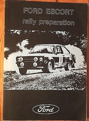 Rs  FORD ESCORT RALLY PREPARATION MANUAL BY CHARLES REYNOLDS Mk 1 2