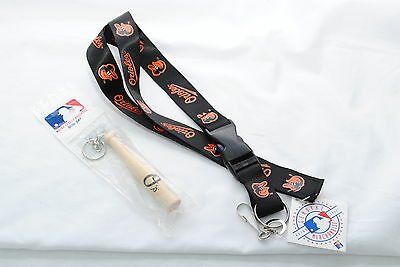 Baltimore Orioles Lanyard & Mini Bat Key Ring