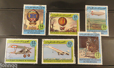 Mauritania Stamps 522-527, Manned Flight, NH, SCV $3