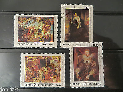 Chad Stamps 349-352, Rubens Paintings, NH, SCV $3