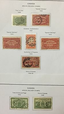 Canada 1898/46 Special Delivery Stamps 8 Val. Used Rare Spl