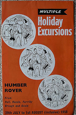 Humber Rover Excn leaflet 1958 - maps etc re three outings July 29 to  Aug 1st