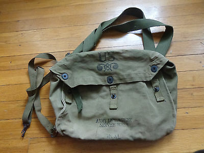 WWII Army Lightweight Service Mask Bag Gas Mask Bag Carrier Bag