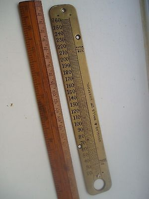 Vintage Brass Thermometer Plate Douglas & Walls Liverpool