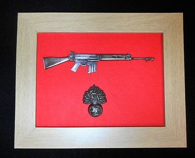 Framed Royal Regiment of Fusiliers 1/6 scale Self Loading Rifle