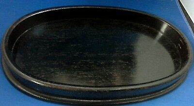 Vintage ebony oval tray - perfect for sherry glasses or as a vanity tray