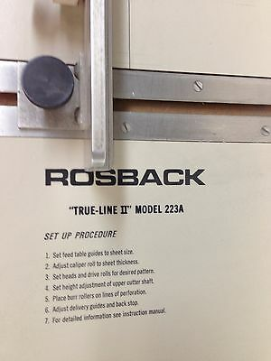 Rosback Perforator and Scoring Machine 223A