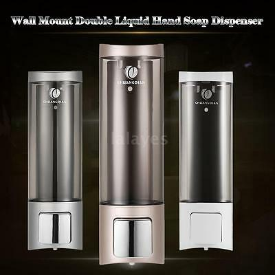 Manual Hand Soap Dispenser Wall Mount Lotion Shampoo Shower Gel Dispenser V5C2