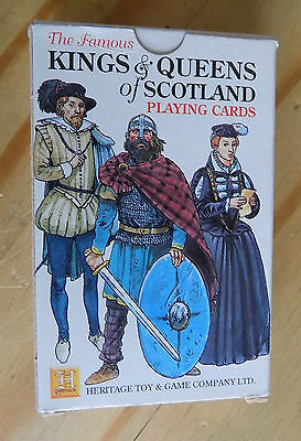 Kings and Queens of Scotland Playing Cards (Heritage Toy and Game Co)