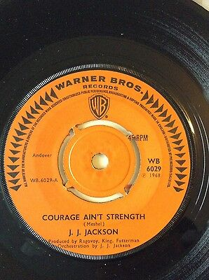 """Northern Soul. J.J. JACKSON. """"Courage aint Strength"""". UK. W/Brothers"""