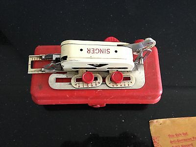 Vintage Singer Sewing Machine Button Hole Attachment 86718 Simanco in Red Box