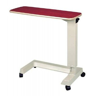 Invacare IH5125 Hospital Overbed Auto-Touch Rolling Table & Laptop Tray in White