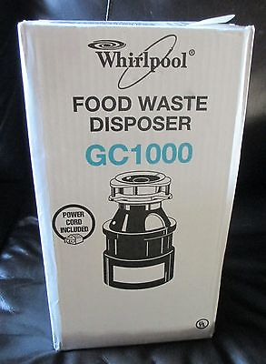 NEW Whirlpool 1/3HP Continuous Feed Garbage Disposer Disposal GC1000PE