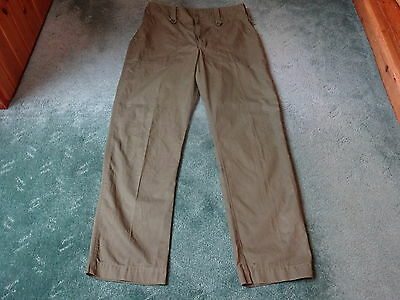 British Army Lightweight Trousers Olive Green - 82/92/108 - Very Good Condition