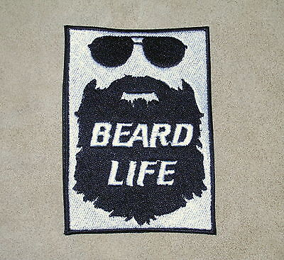 BEARD LIFE  Biker Vest Embroidered Patch, motorcycle,chopper