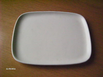 Poole Pottery Side Plate. White.