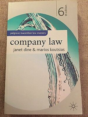 Company Law 6th Edition by Janet Dine & Marios Koutsias
