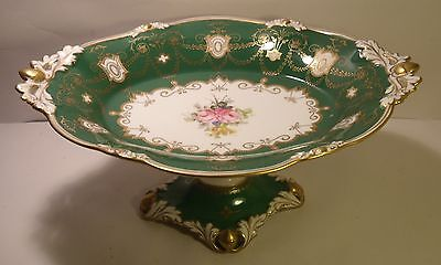 Stunning Royal Crown Derby Two Handled Footed Finely Decorated Comport