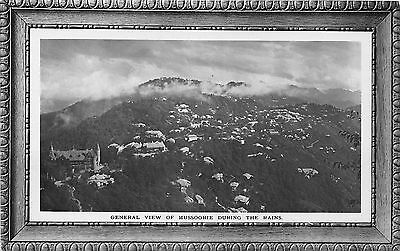 POSTCARD    INDIA   MUSSOORIE  General  View  During  the  rains    RP