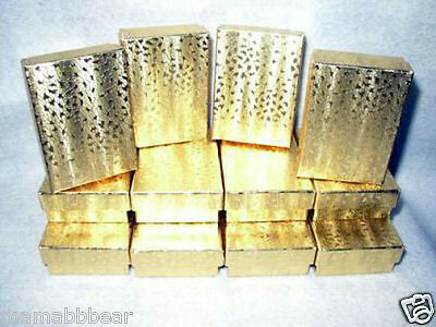 JEWELRY GIFT BOXES Gold Foil 3 x 2 x 1 (12)