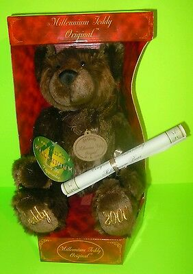 NEW Millennium 2000 Original Teddy Bear With Tags/Certificate Plush Collectable!