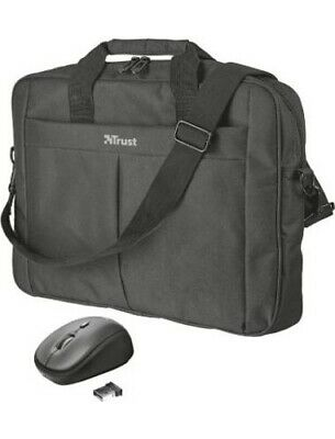 "Trust Borsa porta PC Notebook 16"" con Tracolla Nero + Mouse wireless 21685 Primo"