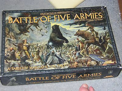 Lord Of The Rings-Battle Of Five Armies-Rare Boxed Game-Warhammer-Unpainted