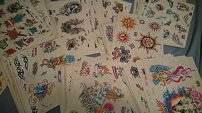 20  Sheets of Vintage Tattoo Brand Flash