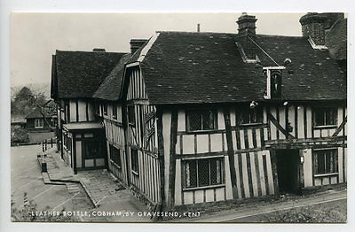 COBHAM, by GRAVESEND in Kent, The Leather Bottle, Real Photo