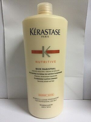 kerastase Bain Magistral Shampoo 1000ml Free Pump For Severely Dried-out Hair