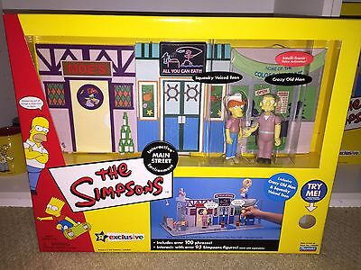 Simpsons World Of Springfield Large PlaySet MAIN STREET Toys-R-Us MIP