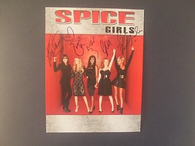 THE SPICE GIRLS  SIGNED 11 x 9 1/2  COLOUR MUSIC PHOTO