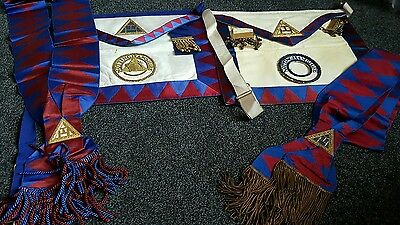 Royal Arch Chapter Apron, and Collar  x Two