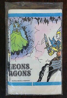 Vintage Dungeon and Dragons Paper Table Cover Birthday Party Supplies NOS 1983