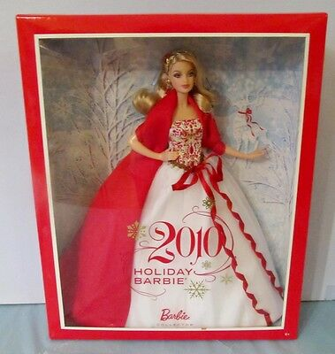 Never Removed From Box 2010 Holiday Barbie Doll