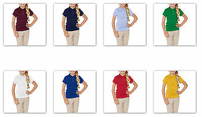 -George School Uniform GIRLS SHORT Sleeve Polo Shirts many colors / sizes
