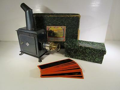 GBN Gerbruder Bing Child's Fine Magic Lantern with Slides Boxed - Circa 1910