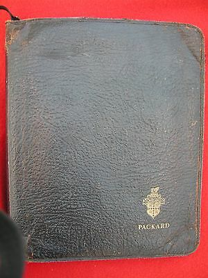 Packard Motor Car Co. Leather Portofolio With Zipper