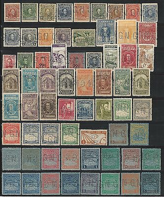 Venezuela: T official 1915; 85 different, perforation GN, MNH, some hinged. AV76