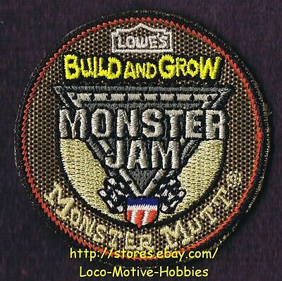 LMH Patch  2013 MONSTER JAM Truck  MUTT 4x4 LOWES Build Grow Kids Clinic Brown