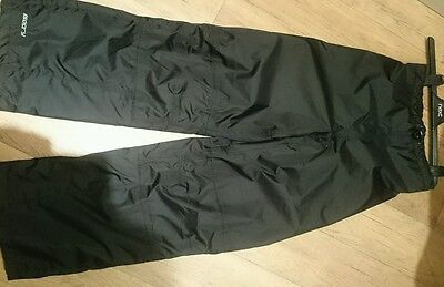Boys unisex Mountain Warehouse waterproof black trousers age11-12