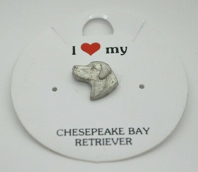 Rawcliffe Pewter 1983 CHESEPEAKE BAY RETRIEVER Pin Brooch DOG RARE NIP NEW