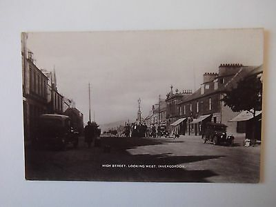 High Street Looking West Invergordon Old Postcard Caledonia Series
