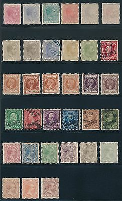 1880 Philippines (33) VARIOUS ISSUES AS LISTED, MH & USED, CAT VALUE $68
