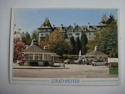 Postcard Strathpeffer Highland Hotel & Square Ross Scotland Unused See 2 Pic's