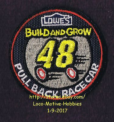 LMH PATCH Badge PULL BACK RACE CAR #48 Racecar LOWES Build Grow Kids Clinic Navy