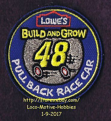 LMH PATCH Badge PULL BACK RACE CAR #48 Racecar LOWES Build Grow Kids Clinic Ylow