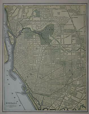 1892 Buffalo, NY Antique Color Atlas Map^  125 years-old!