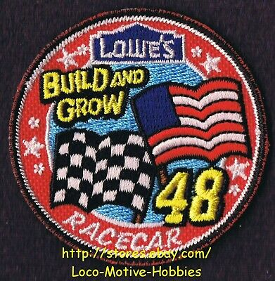 LMH PATCH Badge  2010 RACECAR #48 Race Car Checker Flag LOWES Build Grow Clinic